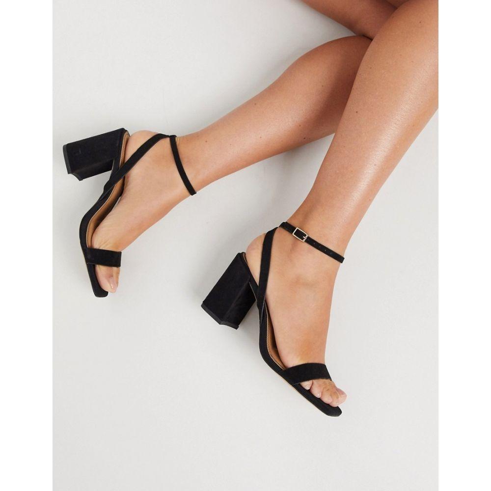 エイソス ASOS DESIGN レディース サンダル・ミュール シューズ・靴【Havana barely there block heeled sandals in black】Black