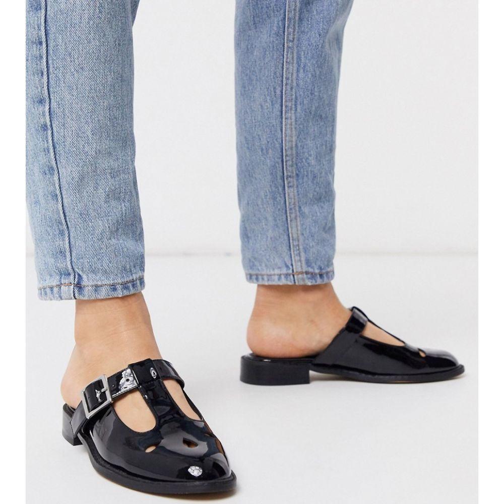 エイソス ASOS DESIGN レディース サンダル・ミュール シューズ・靴【Magna flat mules in black】Black