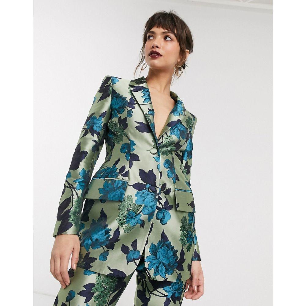 エイソス ASOS EDITION レディース スーツ・ジャケット アウター【summer floral jacquard blazer】Multi
