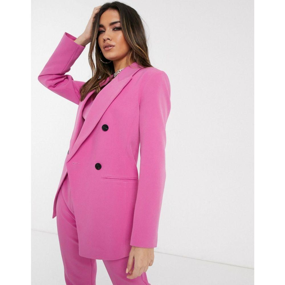 エイソス ASOS DESIGN レディース スーツ・ジャケット アウター【pop waisted suit blazer in pink】Pink