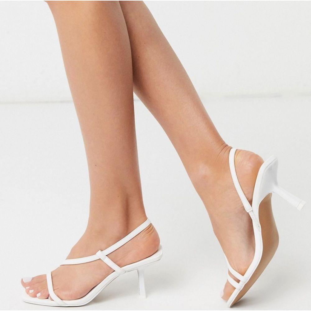 エイソス ASOS DESIGN レディース サンダル・ミュール シューズ・靴【Hammond strappy mid-heeled sandals in white】White