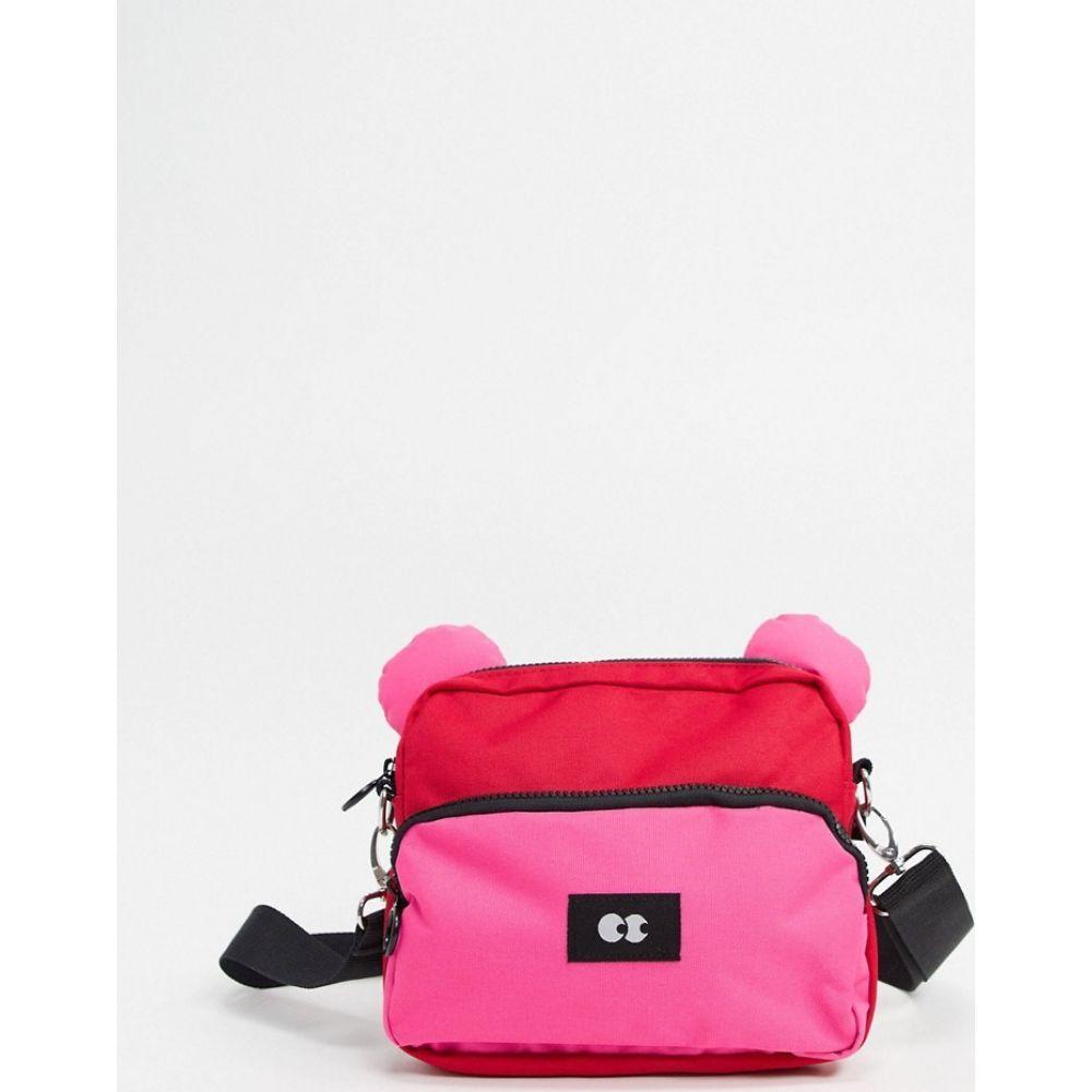 レイジー オーフ Lazy Oaf レディース ショルダーバッグ バッグ【bear cross body bag in red and pink】Red