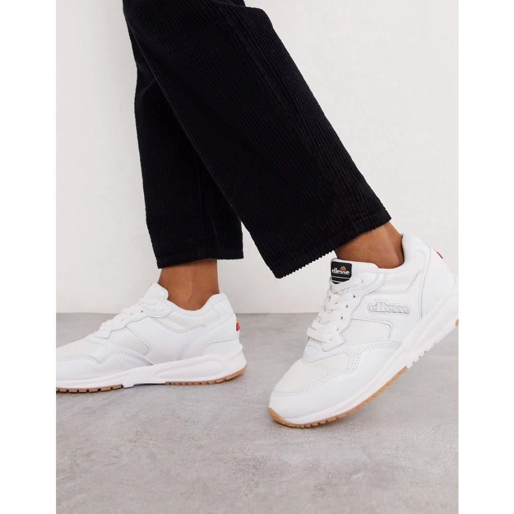 エレッセ ellesse レディース スニーカー シューズ・靴【Ellesse NYC trainers in triple white】Wht/wht/gry