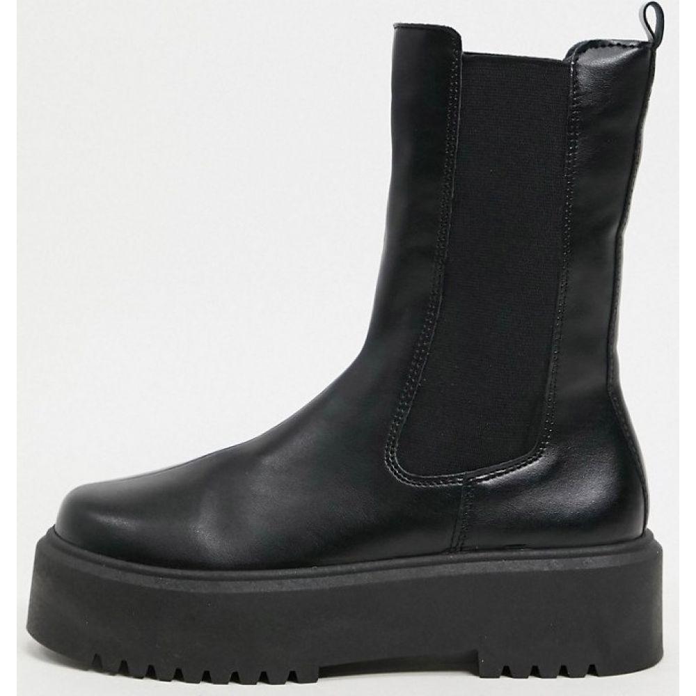 エイソス ASOS DESIGN レディース ブーツ チェルシーブーツ チャンキーヒール シューズ・靴【Alana chunky chelsea boots in black】Black
