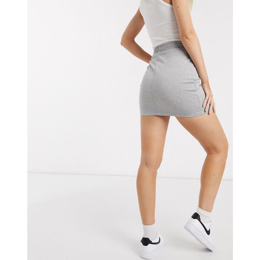 エイソス ASOS DESIGN レディース ミニスカート ボディコン スカート drawcord bodycon mini skirt in grey GreyfYgyb76v