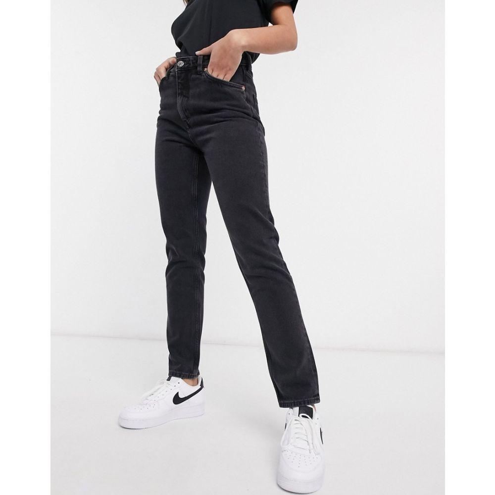 モンキ Monki レディース ジーンズ・デニム ボトムス・パンツ【Kimomo high waist mom jeans with organic cotton in wash black】Black