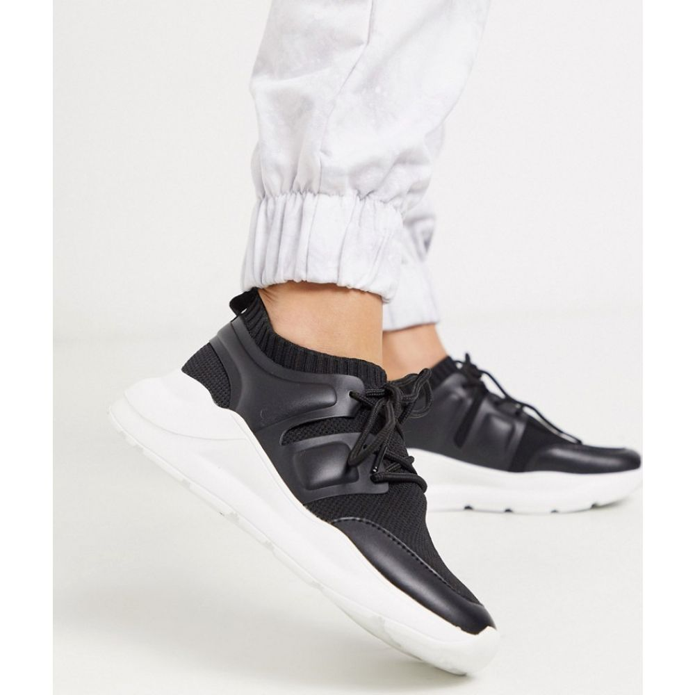 エイソス ASOS DESIGN レディース スニーカー シューズ・靴【Dover knitted trainers in black】Black
