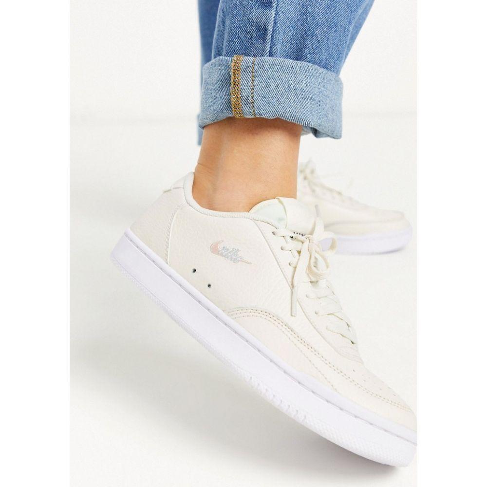 ナイキ Nike レディース スニーカー シューズ・靴【Court Vintage trainers in cream】Aura