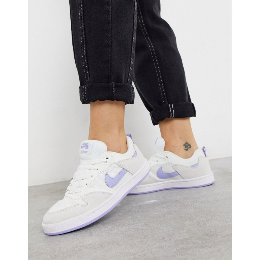 ナイキ Nike レディース スニーカー シューズ・靴【SB Alleyoop trainers in white and blue】Blue
