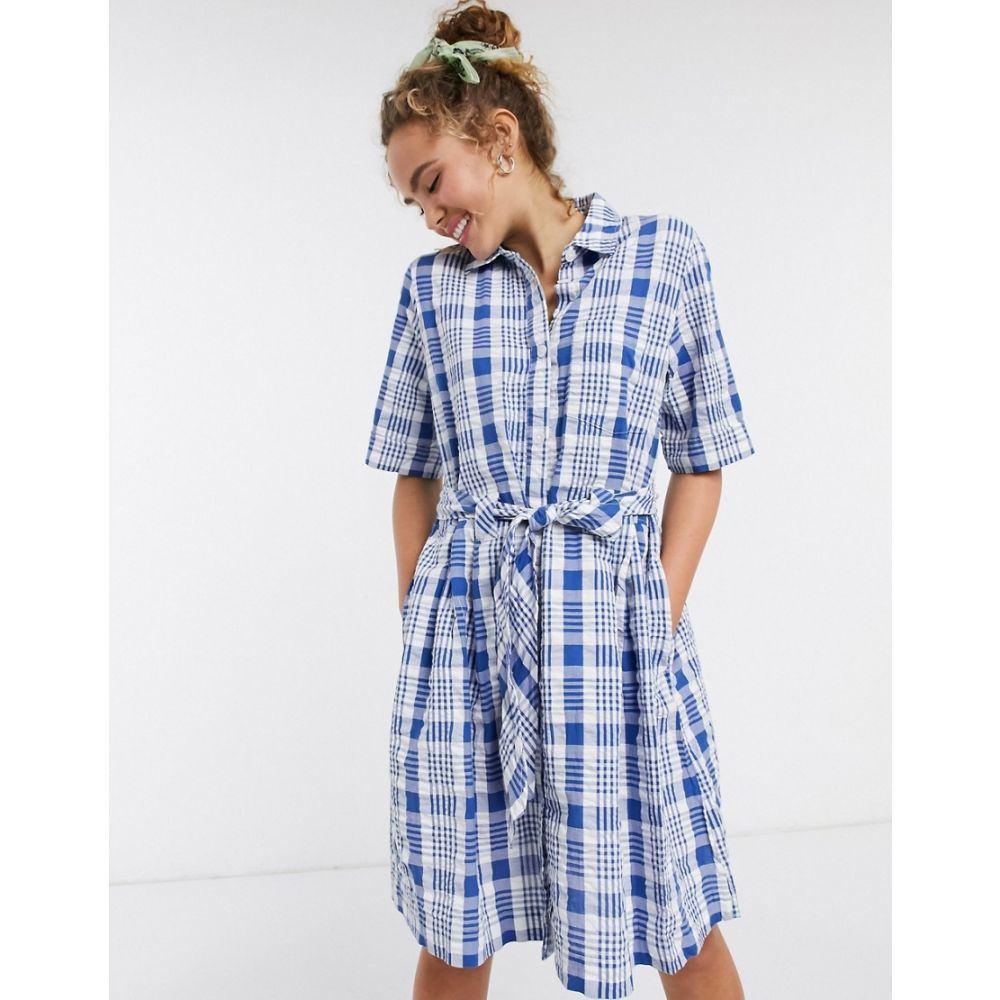 モンキ Monki レディース ワンピース シャツワンピース ワンピース・ドレス【check shirt dress】Check