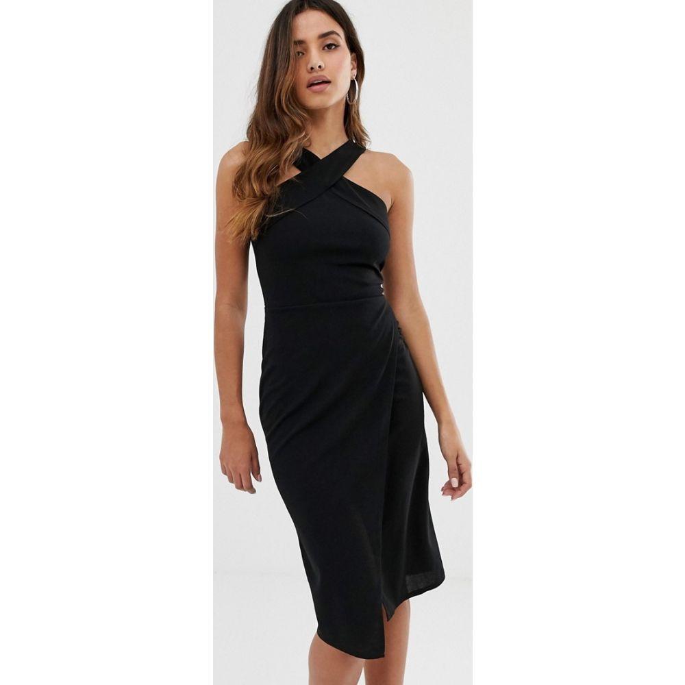 アックスパリス AX Paris レディース ボディコンドレス ワンピース・ドレス【halterneck bodycon dress in black】Black