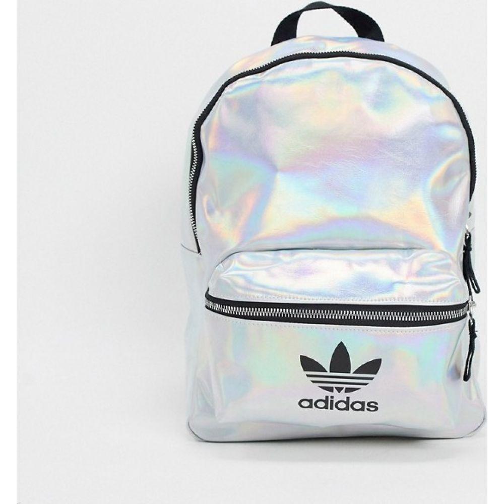 アディダス adidas Originals レディース バックパック・リュック バッグ【Trefoil logo backpack in metallic silver】Silver met./iridesc