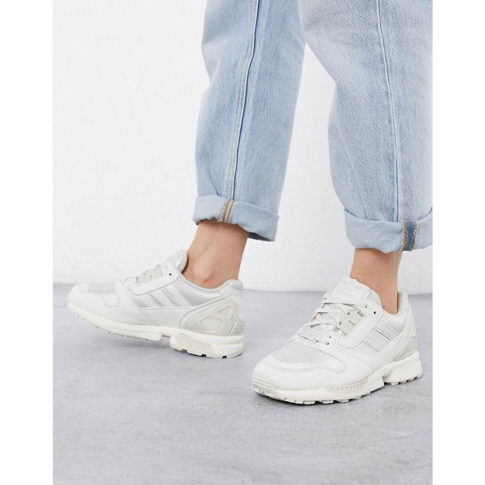 アディダス adidas Originals レディース スニーカー シューズ・靴【ZX 8000 trainers in white】Grey