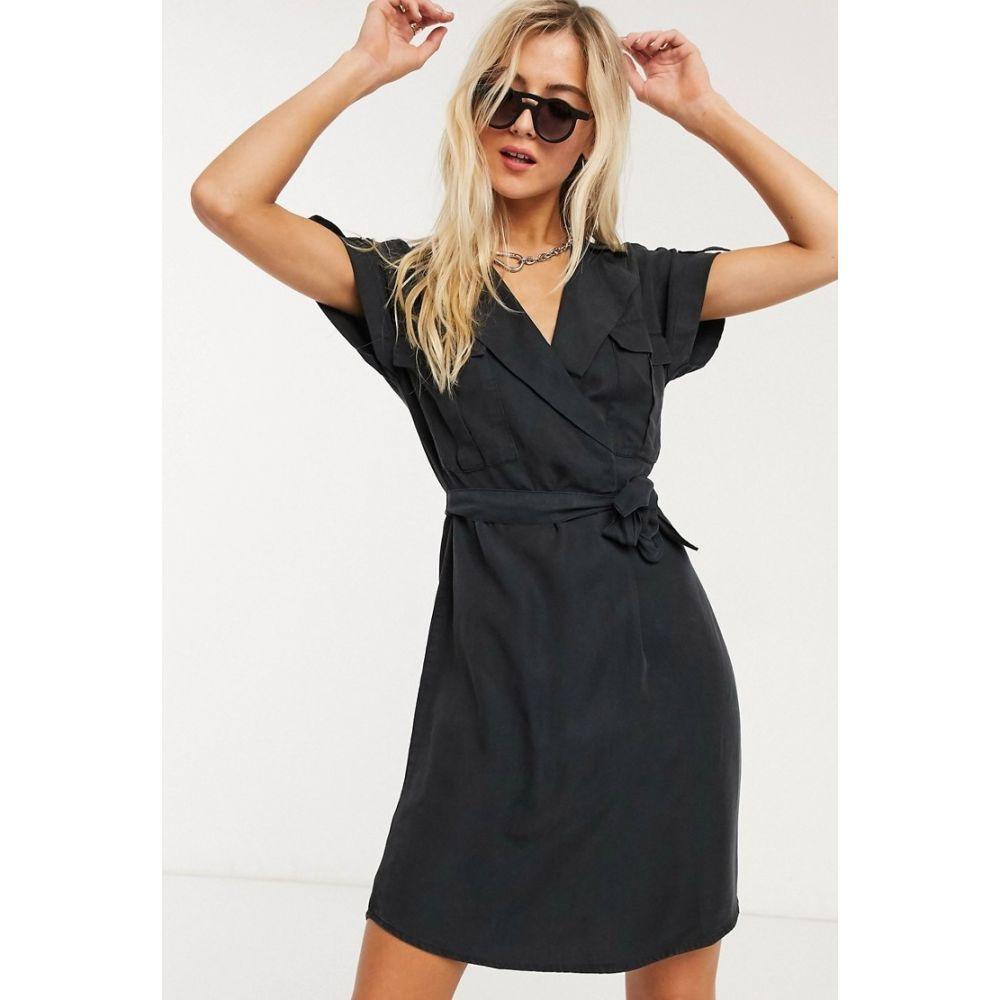 ノイズィーメイ Noisy May レディース ワンピース ワンピース・ドレス【utility dress in black】Black