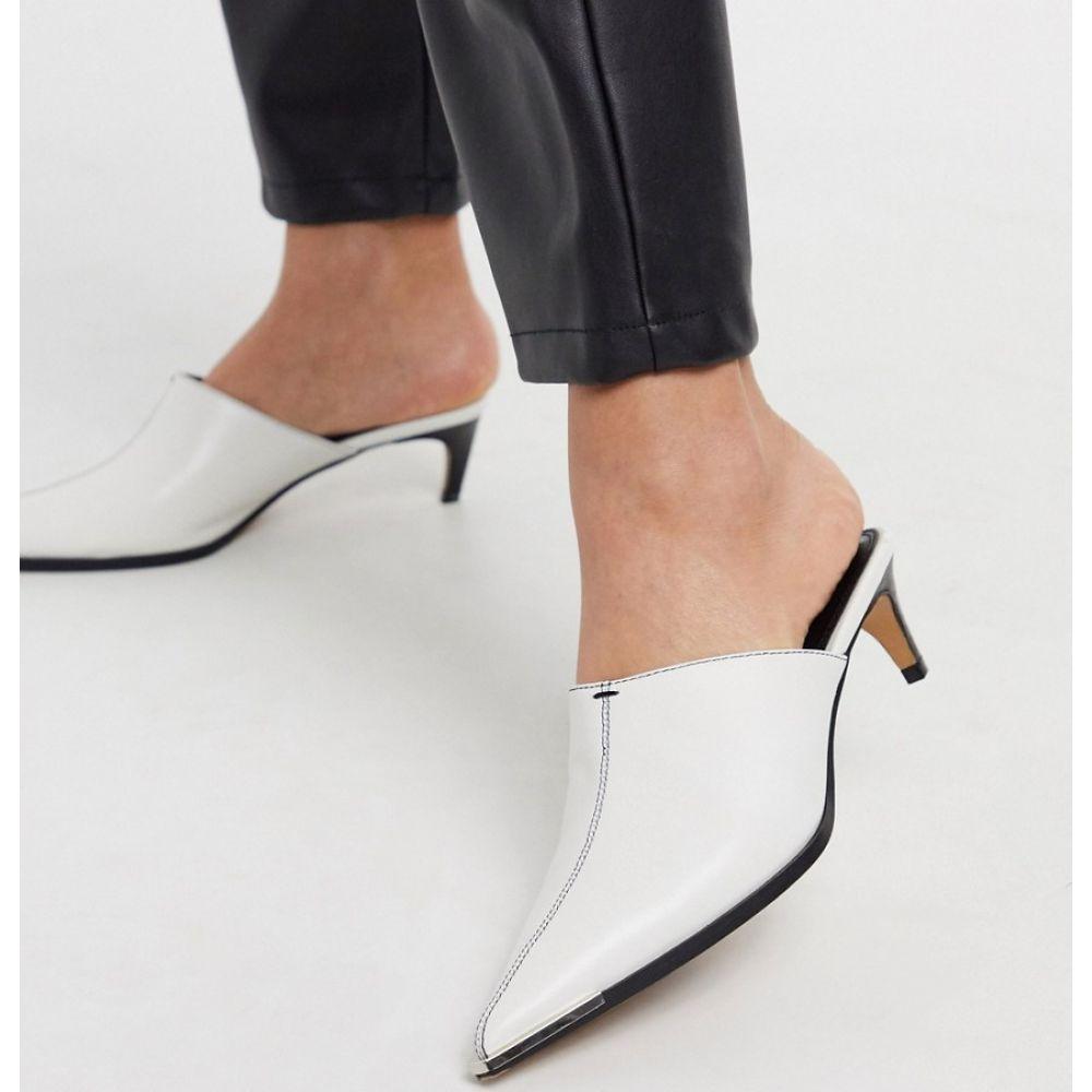 トップショップ Topshop レディース サンダル・ミュール シューズ・靴【pointed heeled mules in white】White
