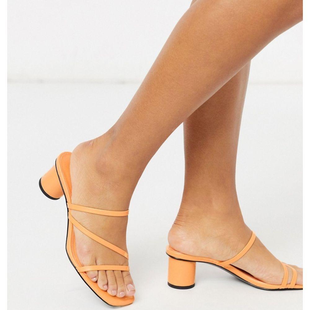 モンキ Monki レディース サンダル・ミュール シューズ・靴【Agnes minimal heeled sandal in orange】Orange