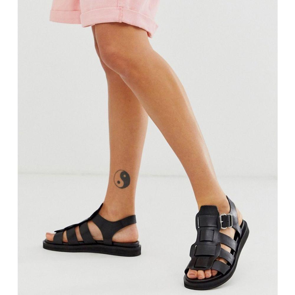 ブロンクス Bronx レディース サンダル・ミュール シューズ・靴【leather gladiator sandals】Black