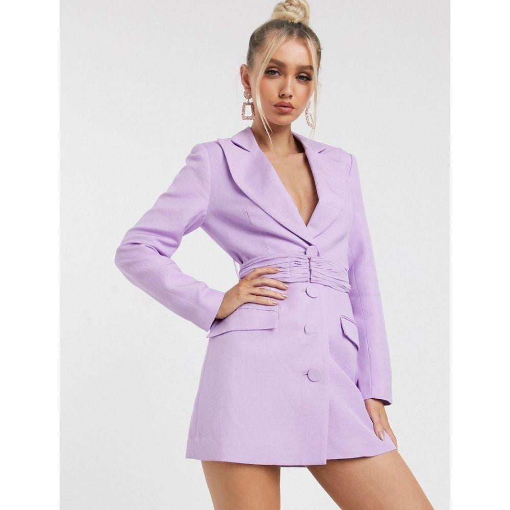 シグニフィカント アザー Significant Other レディース ワンピース ミニ丈 ワンピース・ドレス【dahlia blazer mini dress in lavender】Lavender