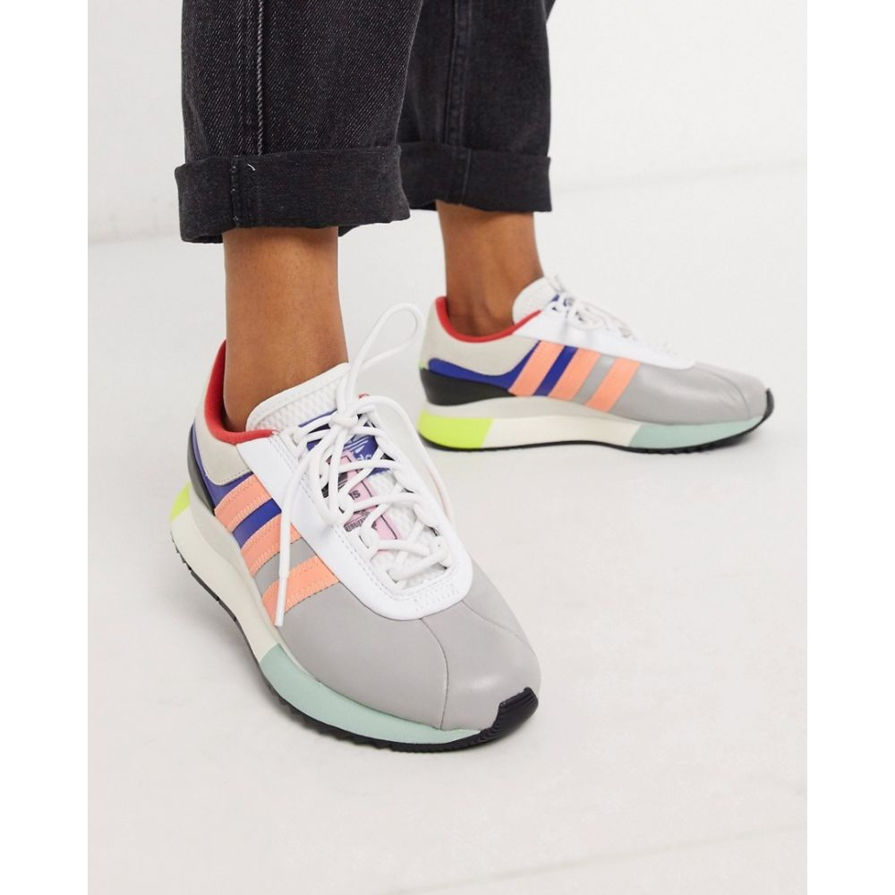 アディダス adidas Originals レディース スニーカー シューズ・靴【SL Andridge Fashion trainers in grey and pink】Grey
