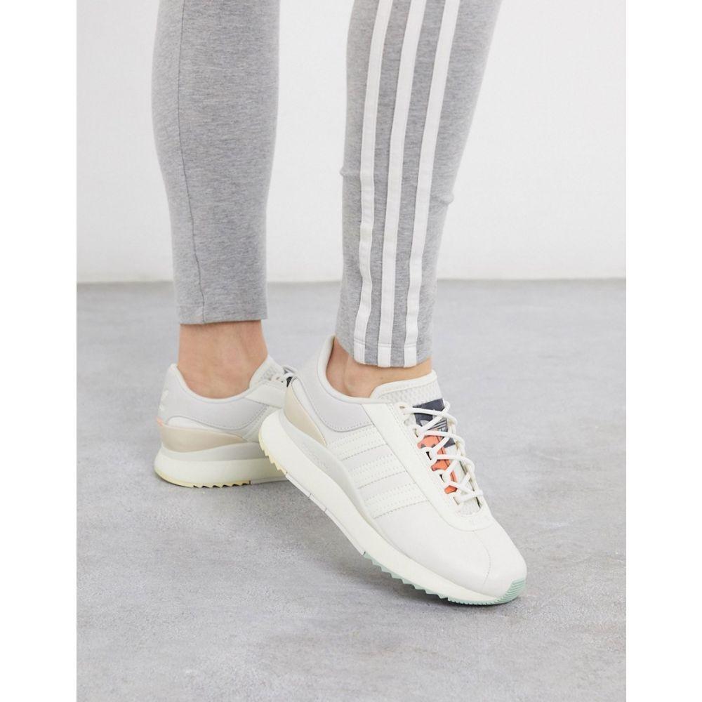 アディダス adidas Originals レディース スニーカー シューズ・靴【SL Andridge Fashion trainers in white and pink】White