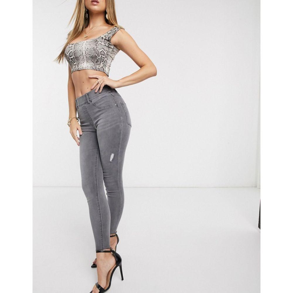 スパンクス Spanx レディース ジーンズ・デニム ボトムス・パンツ【Slim Built In shaping panel high waist jean in grey】Vintage grey