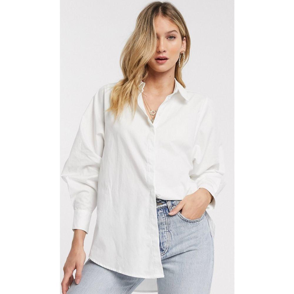 ヴェロモーダ Vero Moda レディース ブラウス・シャツ トップス【shirt with volume sleeves in white】Bright white