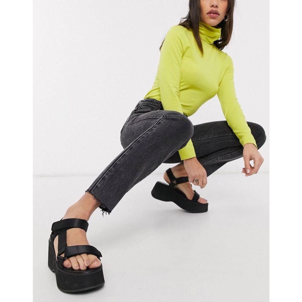 エーブランド Abrand Denim レディース ジーンズ・デニム ボトムス・パンツ【Abrand '94 high rise slim leg jeans in washed black】Black box