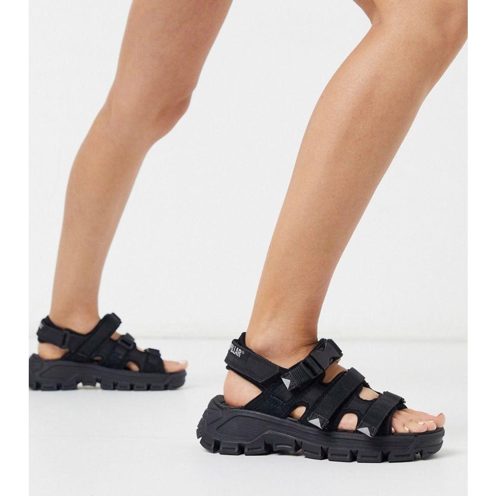 キャットフットウェア Cat Footwear レディース サンダル・ミュール チャンキーヒール シューズ・靴【CAT Progressor Buckle chunky sandals in black】Black/grey