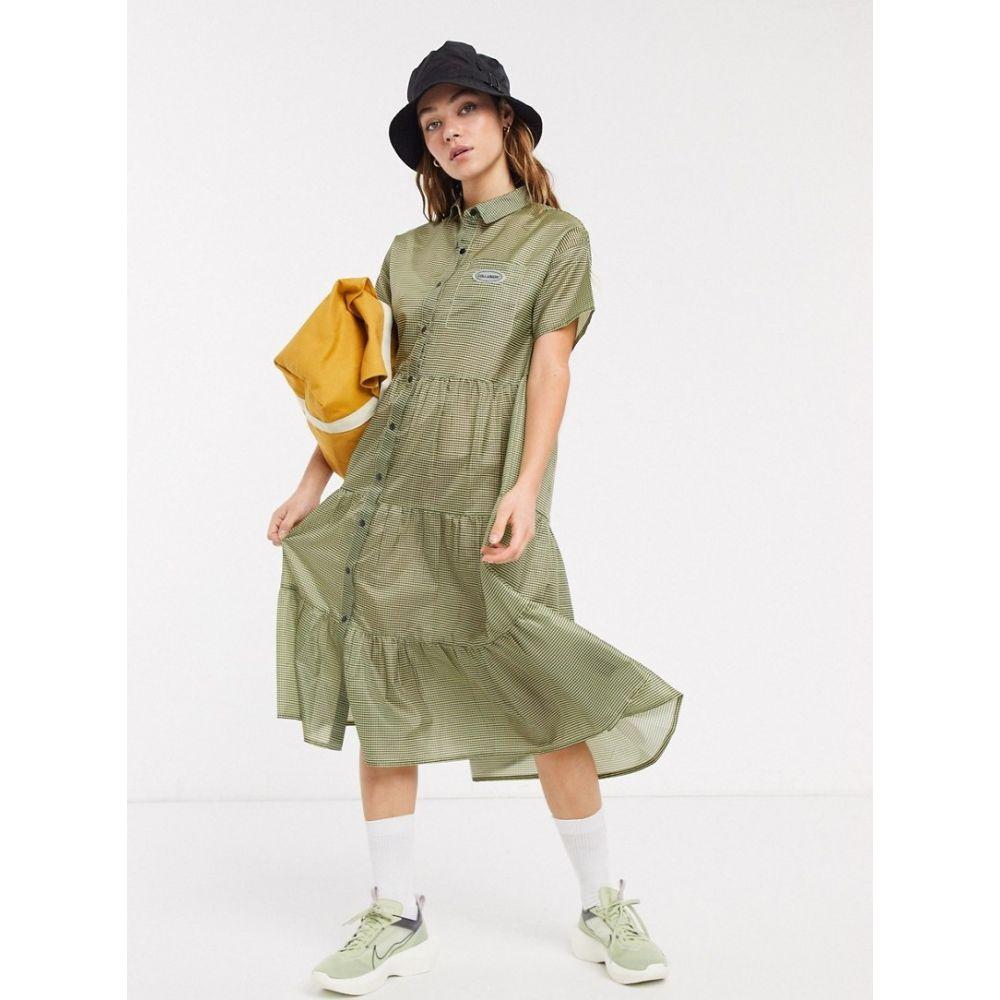 コルージョン Collusion レディース ワンピース ワンピース・ドレス【COLLUSION nylon gingham smock dress】Green