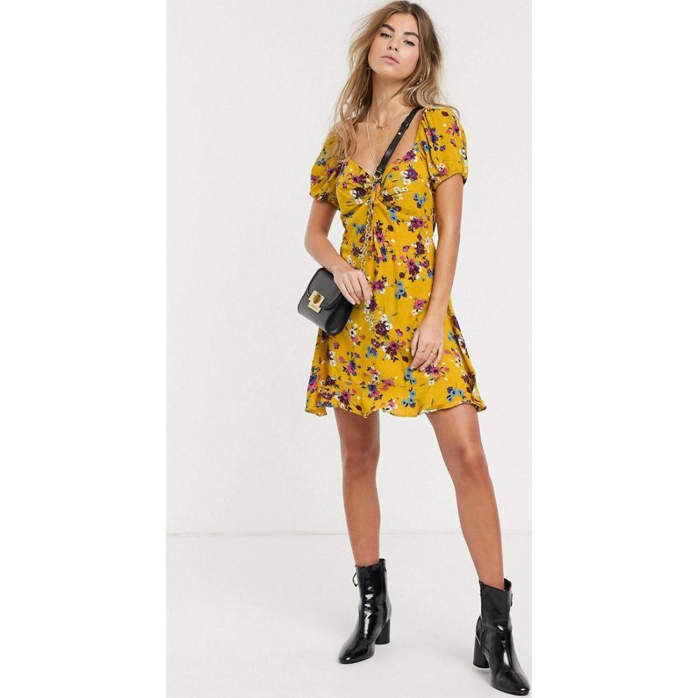 バンド オブ ジプシーズ Band of Gypsies レディース ワンピース ワンピース・ドレス【floral tea dress】Yellow floral