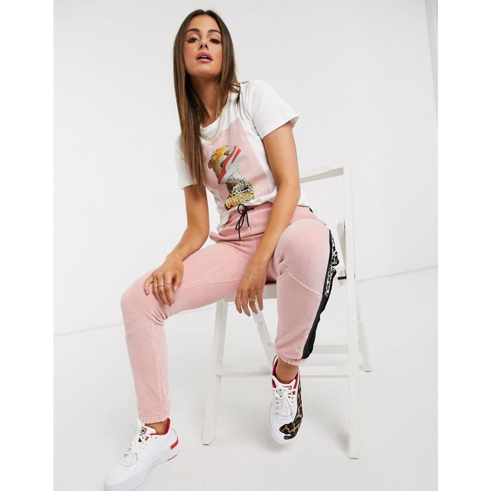 プーマ Puma レディース Tシャツ トップス【x Charlotte Olympia leopard t-shirt in white】White