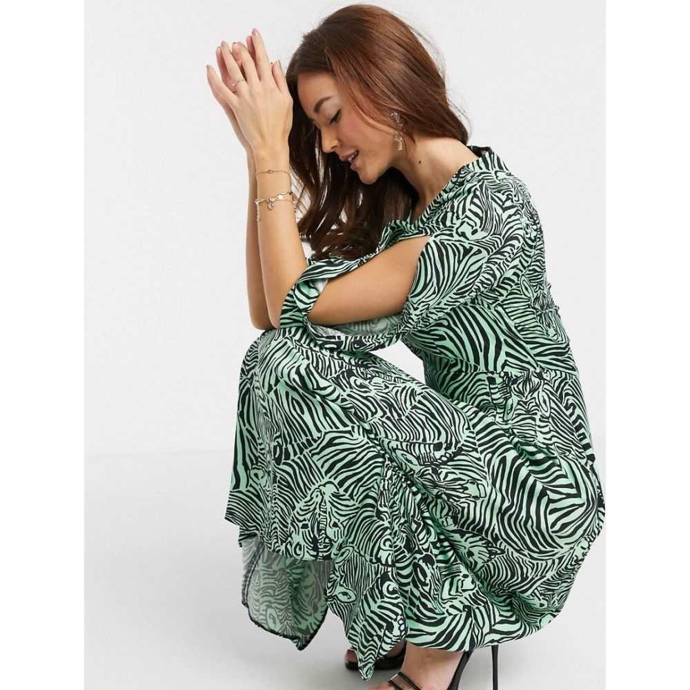 クローゼットロンドン Closet London レディース ワンピース ワンピース・ドレス【midi dress in abstract zebra print】Multi