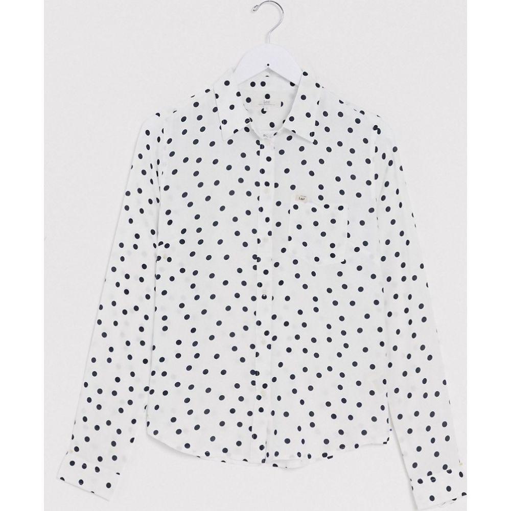 リー Lee Jeans レディース ブラウス・シャツ トップス【Lee spot shirt in multi】Cloud dancer