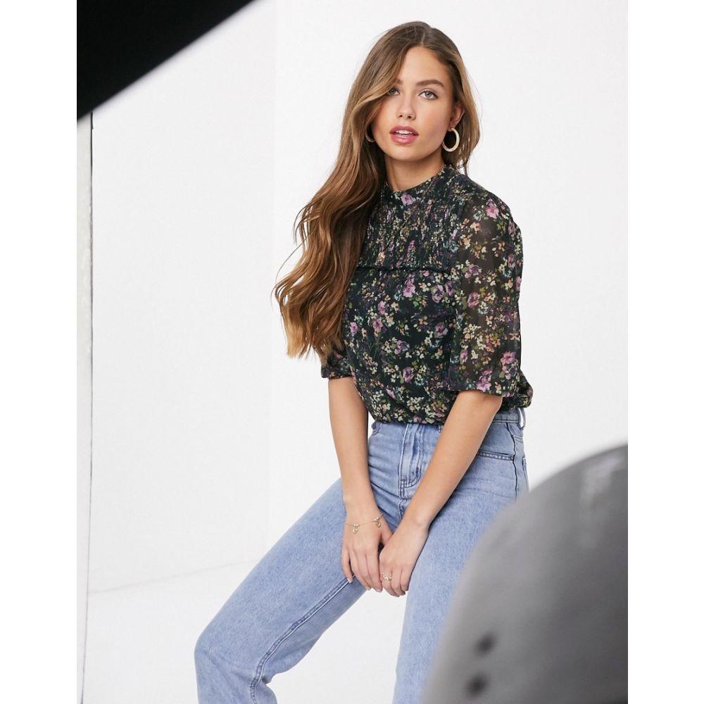 オアシス Oasis レディース ブラウス・シャツ トップス【floral print blouse in navy】Multi blue