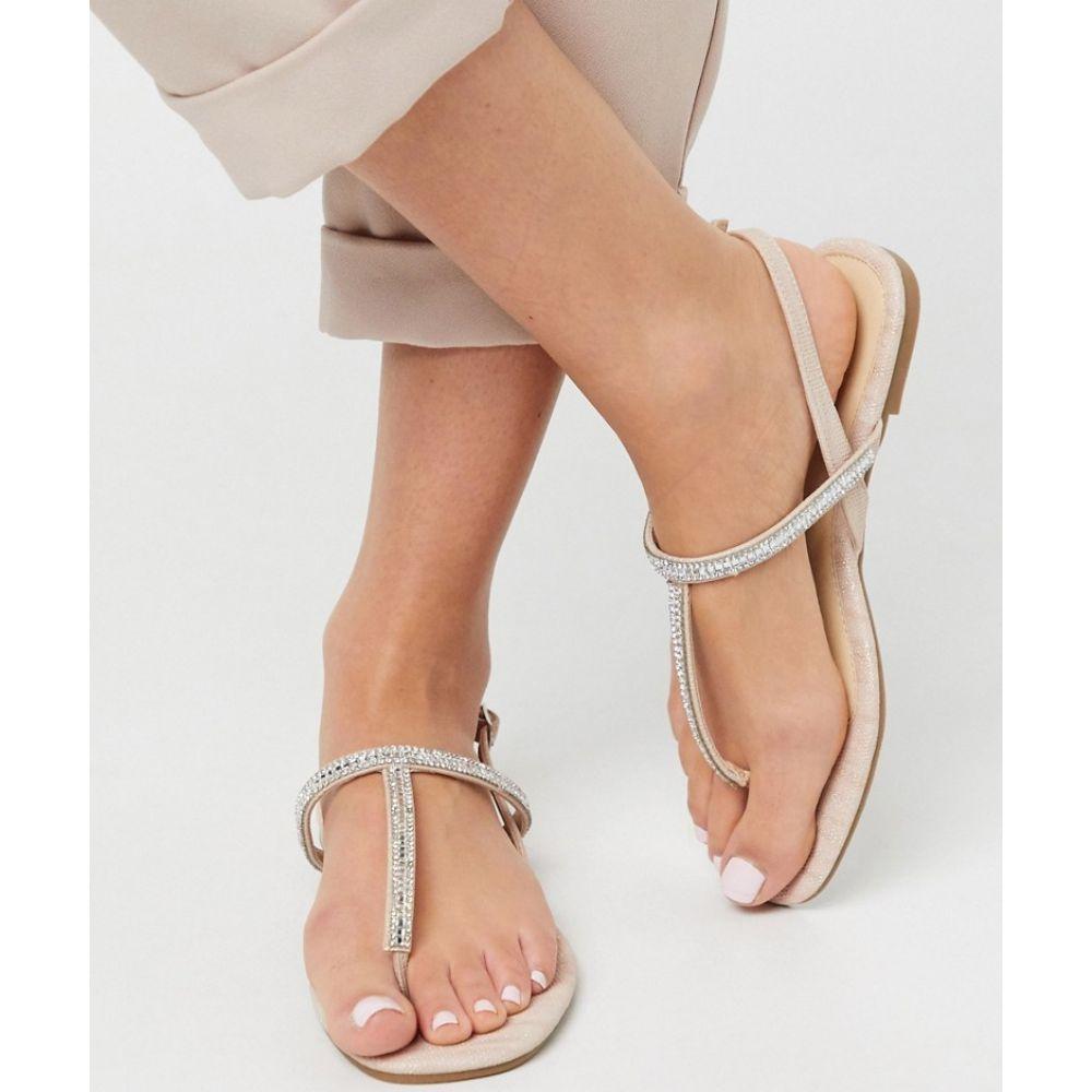 オアシス Oasis レディース サンダル・ミュール シューズ・靴【diamante toe post sandal in gold】Gold
