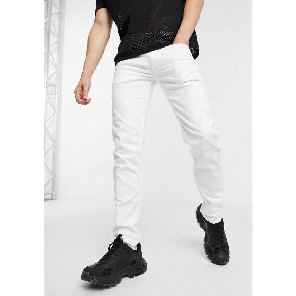 リプレイ Replay メンズ ジーンズ・デニム ボトムス・パンツ【Anbass slim fit zip pocket detail jeans in white】White