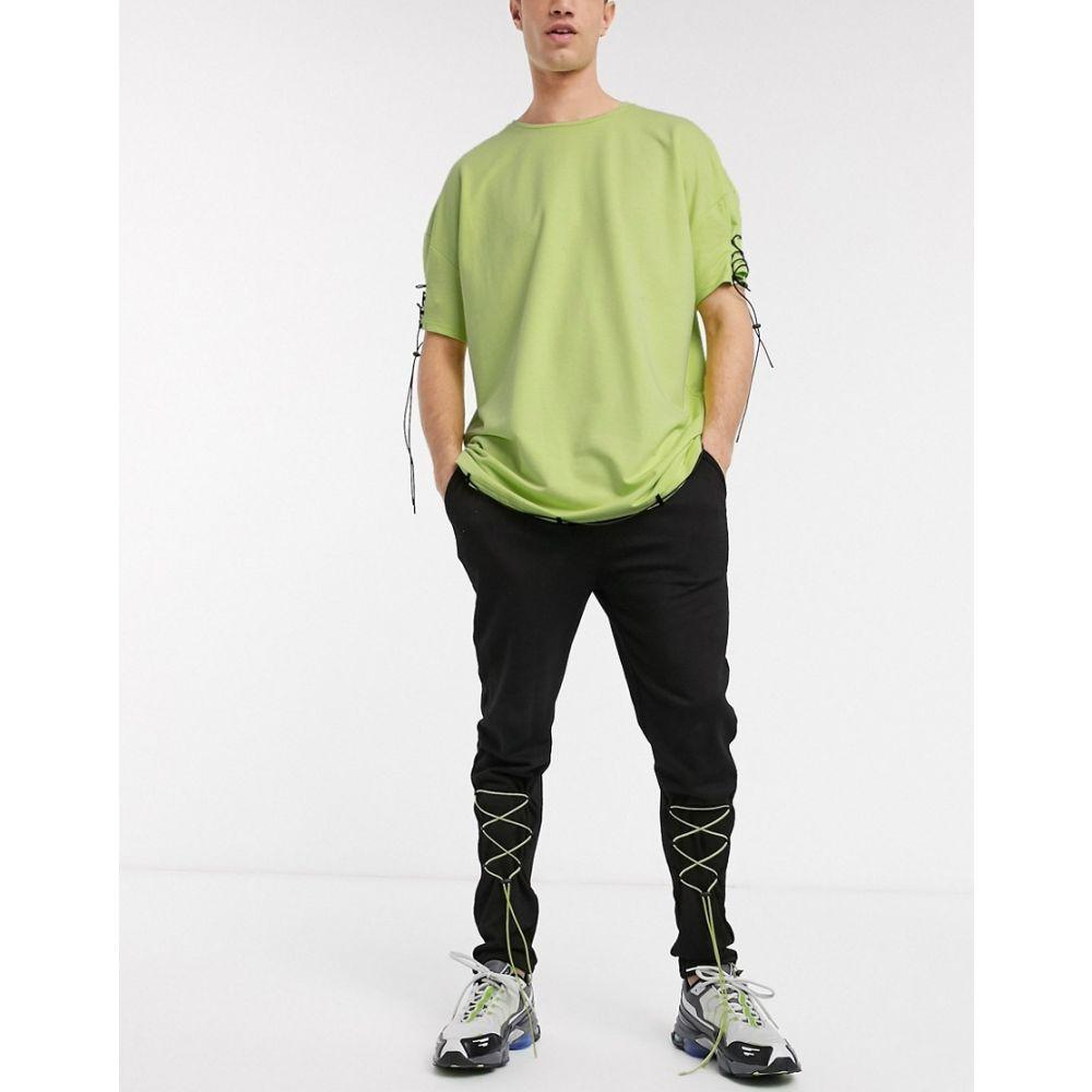 ワンアバーブアナザー One Above Another メンズ ジョガーパンツ ボトムス・パンツ【co-ord joggers with pull ties in neon green】Green