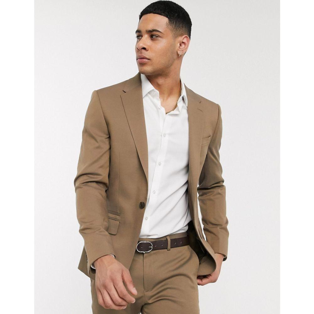 リバーアイランド River Island メンズ スーツ・ジャケット アウター【skinny suit jacket in beige】Beige