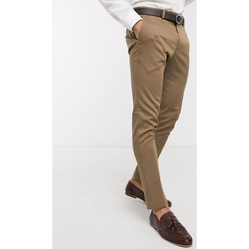 リバーアイランド River Island メンズ スラックス ボトムス・パンツ【skinny suit trousers in beige】Beige