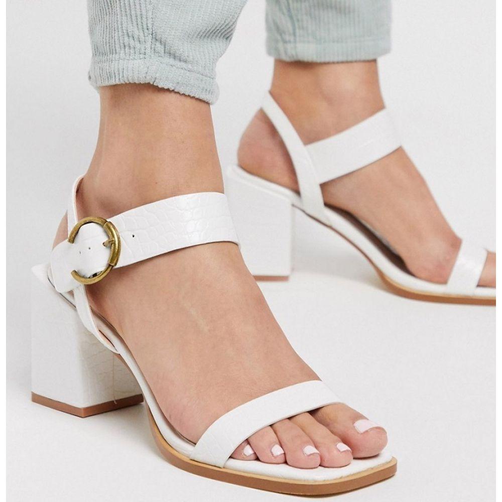 Z_Code_Z レディース サンダル・ミュール シューズ・靴【Oni block heeled sandals in white croc】White croc