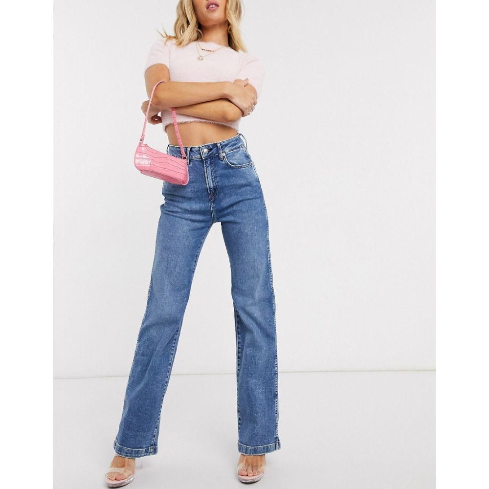 ペペジーンズ Pepe Jeans レディース ジーンズ・デニム ボトムス・パンツ【Dua Lipa x zipper detail jean in mid wash】s throw back