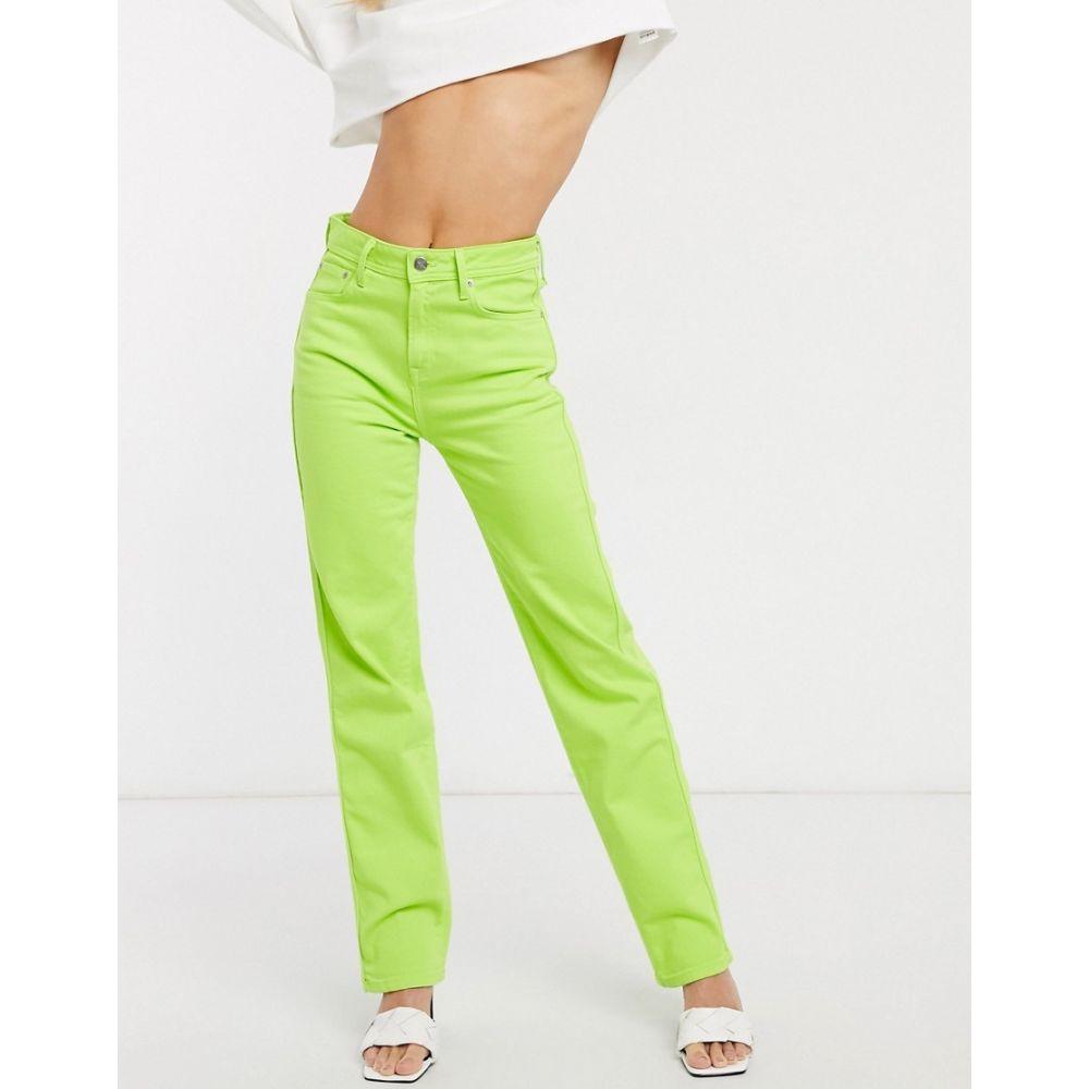 ペペジーンズ Pepe Jeans レディース ジーンズ・デニム ボトムス・パンツ【Dua Lipa x high rise straight leg jean in neon green】Lime