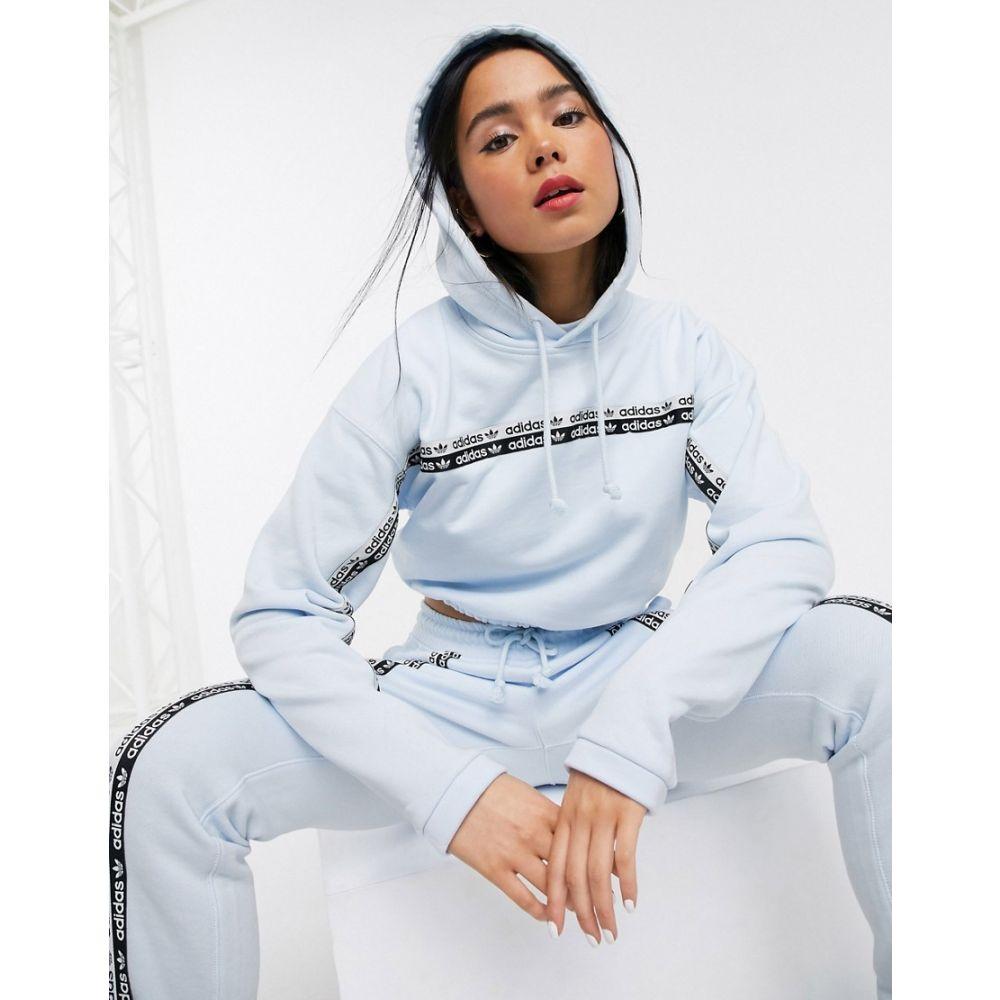 アディダス adidas Originals レディース パーカー トップス【RYV hoodie in blue】Sky tint