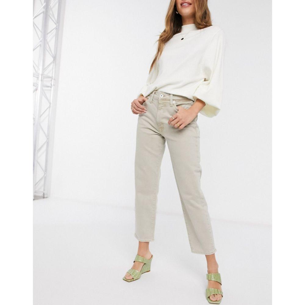 リバーアイランド River Island レディース ジーンズ・デニム ボトムス・パンツ【straight leg jeans in ecru】Ecru