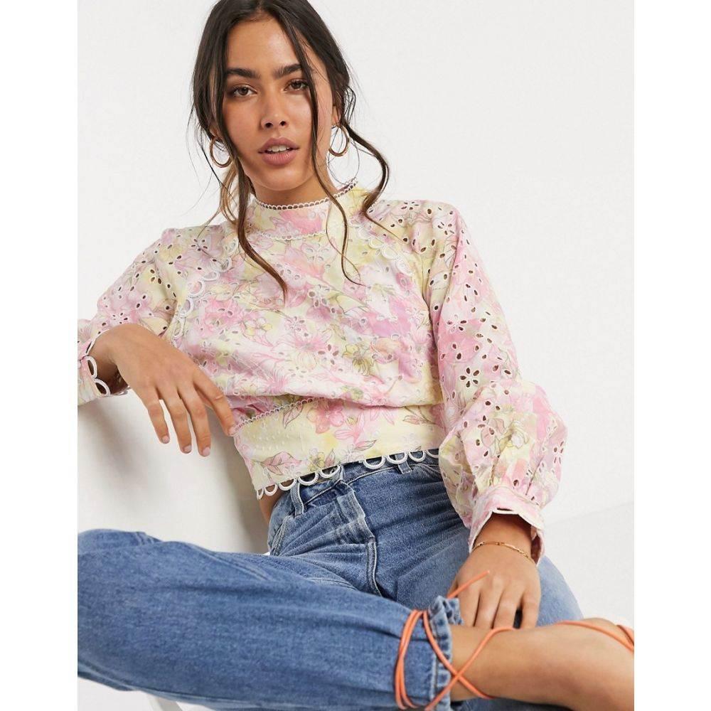 リバーアイランド River Island レディース ブラウス・シャツ トップス【open back floral print broderie blouse】Floral print