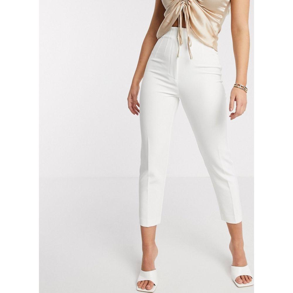 リバーアイランド River Island レディース ボトムス・パンツ 【cigarette trousers in white】White