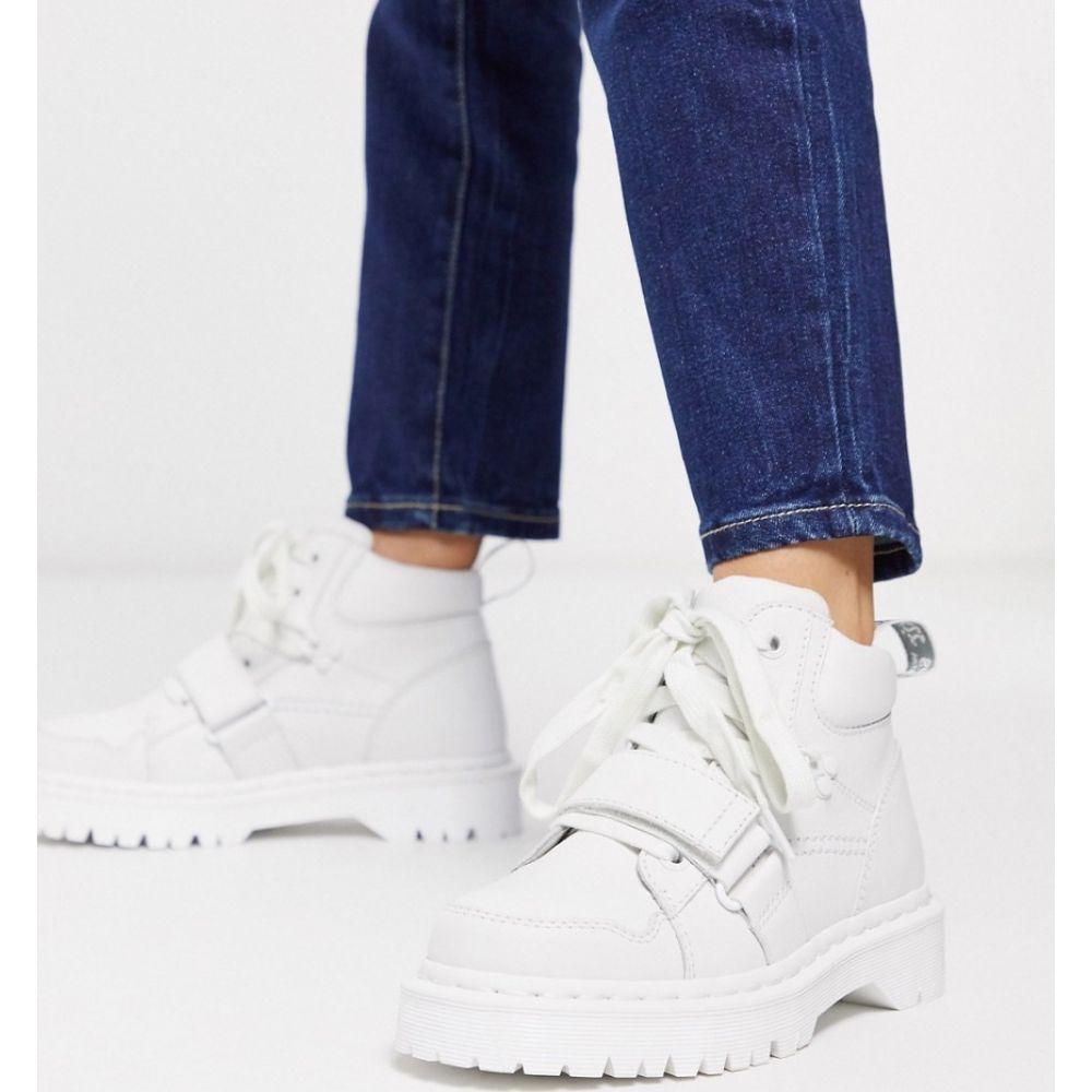 ドクターマーチン Dr Martens レディース ブーツ ショートブーツ シューズ・靴【Zuma II with buckle strap flat ankle boots in white】Optical white