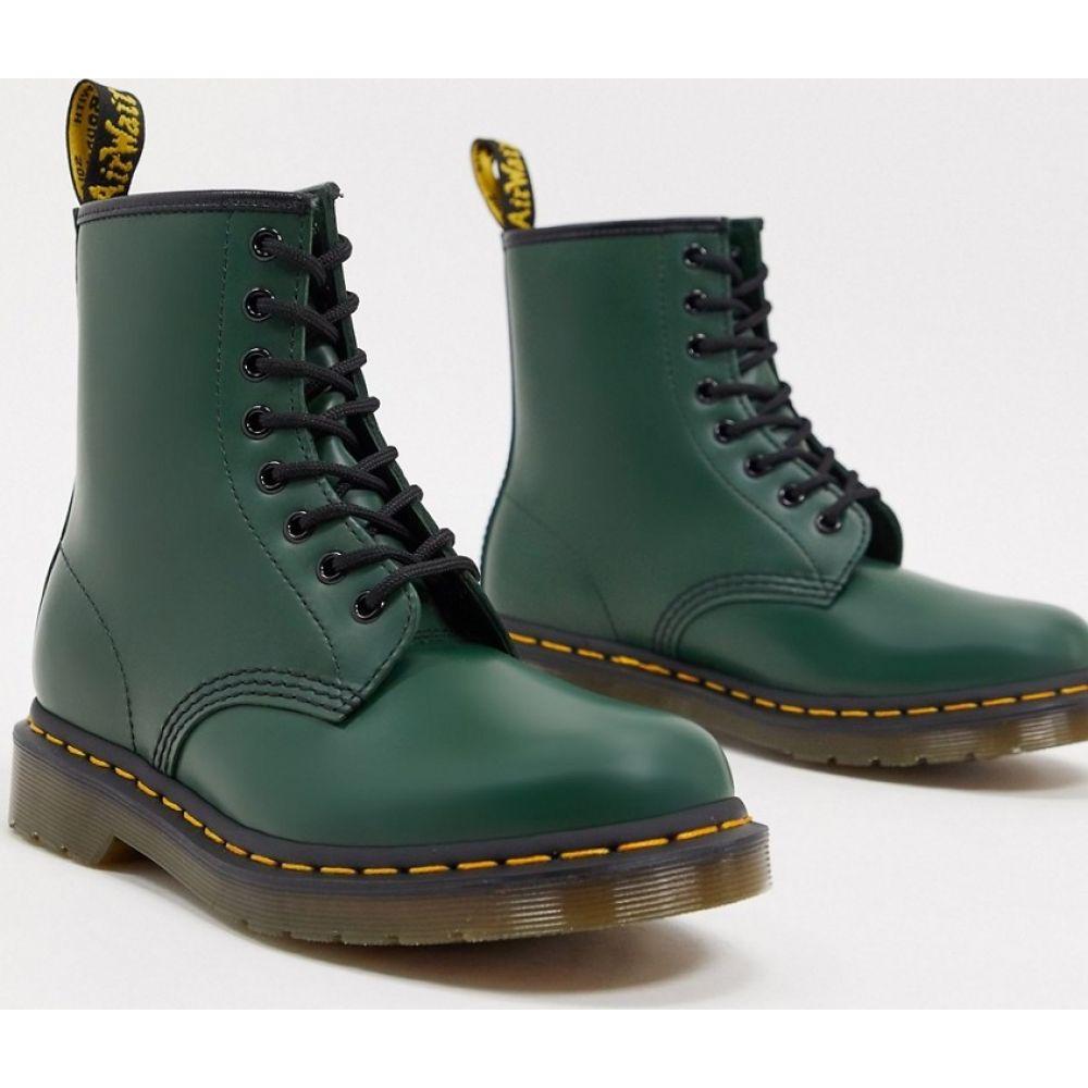 ドクターマーチン Dr Martens レディース ブーツ ショートブーツ シューズ・靴【1460 leather flat ankle boots in green】Green