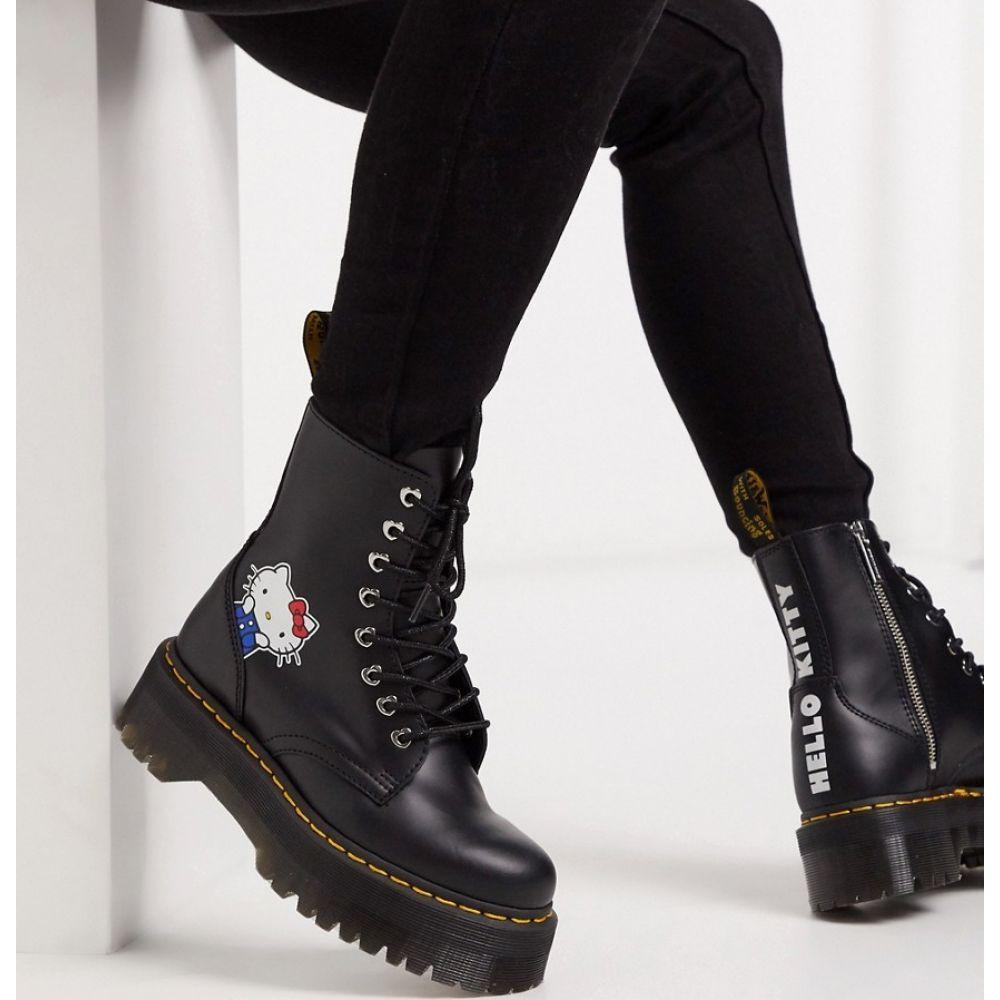ドクターマーチン Dr Martens レディース ブーツ ショートブーツ チャンキーヒール シューズ・靴【x Hello Kitty Jadon chunky ankle boots in Black】Black