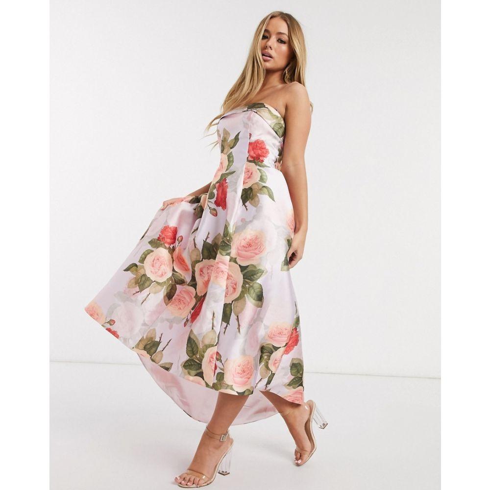 チチロンドン Chi Chi London レディース ワンピース ワンピース・ドレス【midaxi prom dress in floral print】Floral